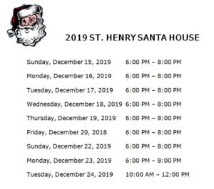 Santa House Hours