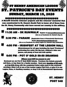 St. Patrick's Day Parade, 5K & other events